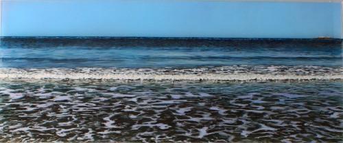 "Before the Erosion, 10x24"" acrylic on multiple acrylic panels, ©Jess Hurley Scott, painting, art, contemporary landscape, dioramic panels"