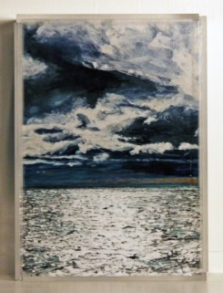 "Nantucket Sound #1, SOLD 5x7"" acrylic on mulitple acrylic panels ©Jess Hurley Scott"