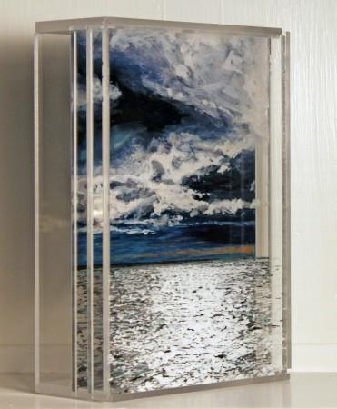 "Nantucket Sound #1, SOLD 5x7"" acrylic on mulitple acrylic panels ©Jess Hurley Scott"