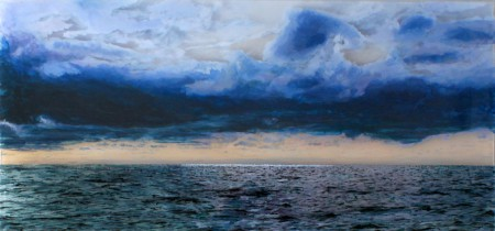 "Nantucket Sound #2, 14x30"" acrylic on mulitple acrylic panels ©Jess Hurley Scott"