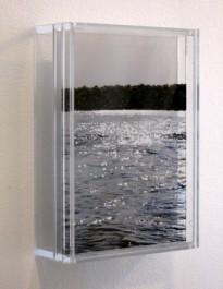 "Inlet, Pocasset, 5x7"" acylic on multiple acrylic panels, © Jess Hurley Scott"
