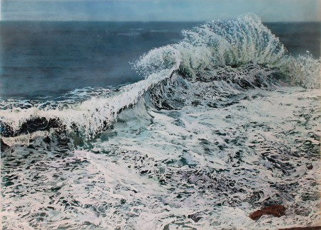 acrylic on multiple acrylic panels, landscape painting, seascape, jess hurley scott