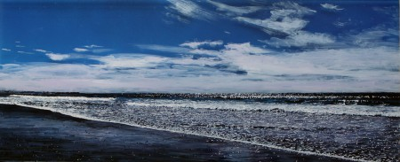 "'Clarity' 10x24""acrylic on multiple acrylic panels, © Jess Hurley Scott, contemporary landscape, painting, art, artist, seascape"