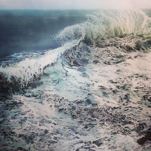Turmoil- Instagram, Jess Hurley Scott, Instagram Art, Landscape Paiinting on Instagram, seascape , layered paintings