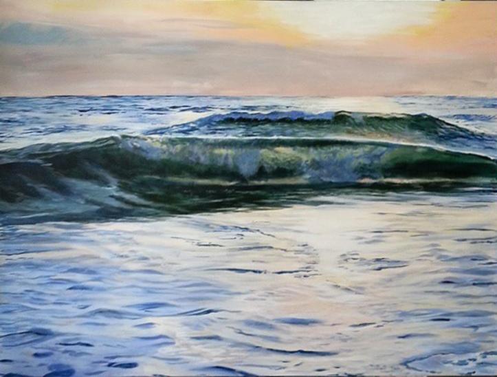 """Cisco"", 36 x 48"", acrylic on canvas. © Jess Hurley Scott, painting, ocean, contemporary art, seascape, nantucket, ack"