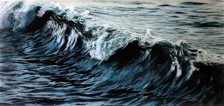 """Mercury, #1"", 14"" x 30"" acrylic on multilayered acrylic panels, © Jess Hurley Scott"
