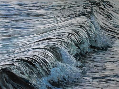 """Mercury, #3"", 18"" x 24"" x 2"", acrylic on multilayered acrylic panels, © 2015 Jess Hurley Scott"