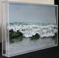 """Ripple, Fog"", 2015, acrylic on multiple panels of acrylic, 10"" x 16"" x 2"" © Jess Hurley Scott, art, contemporary art"