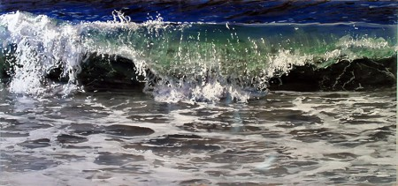 "coastal living, coastal, Acrylic on multiple acrylic panels. ©Jess Hurley Scott""And Again"", 2015, 32"" x 40"", Acrylic on multiple acrylic panels. ©Jess Hurley Scott, painting, ocean painting, marine artist, art, painter, seascape, contemporary art"