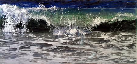 "coastal living, coastal, Acrylic on multiple acrylic panels. ©Jess Hurley Scott""And Again"", 2015, 32"" x 40"", Acrylic on multiple acrylic panels. ©Jess Hurley Scott, painting, ocean painting, marine artist, art, painter, seascape, contemporary art"