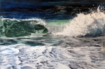 "Acrylic on multiple acrylic panels. ©Jess Hurley Scott""And Again"", 2015, 32"" x 40"", Acrylic on multiple acrylic panels. ©Jess Hurley Scott, painting, ocean painting, marine artist, art, painter, seascape, contemporary art, surfside, surf side, ocean wave painting, wave painting, marine art"