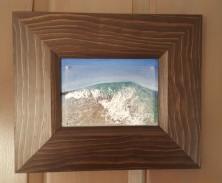 """Close Out, study #2"", 2015, 5"" x 7"" x 1/2"", acrylic on acetate/canvas board ©JessHurleyScott"