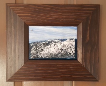 """Reflection, study #1"", 2015, 5"" x 7"" x 1/2"", acrylic on acetate/canvas board ©JessHurleyScott"