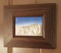 """Close Out, study #1"", 2015, 5"" x 7"" x 1/2"", acrylic on acetate/canvas board ©JessHurleyScott"