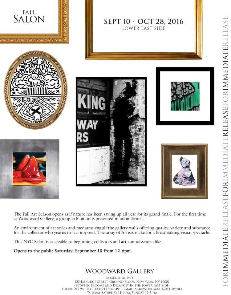 woodward gallery, fall salon, art exhibition, jess hurley scott, new york art gallery, contemporary artist