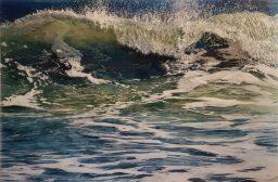 Jess Hurley Scott, dioramic panels, painting, ocean, seascape, acrylic painting, contemporary art, boston artist
