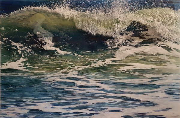 Jess Hurley Scott, dioramic panels, painting, ocean, seascape, acrylic painting, contemporary art, boston artist
