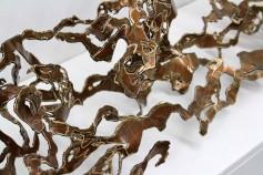 Gretchen Greene, Hazelnut Rush, 2015, bronze, sea, sculpture, art, artist, contemporary artist, marine art
