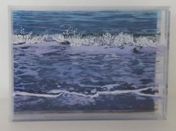 """Tranquility"", 5"" x 7"", acrylic on mulitple layers of acrylic, ©Jess Hurley Scott, seascape"