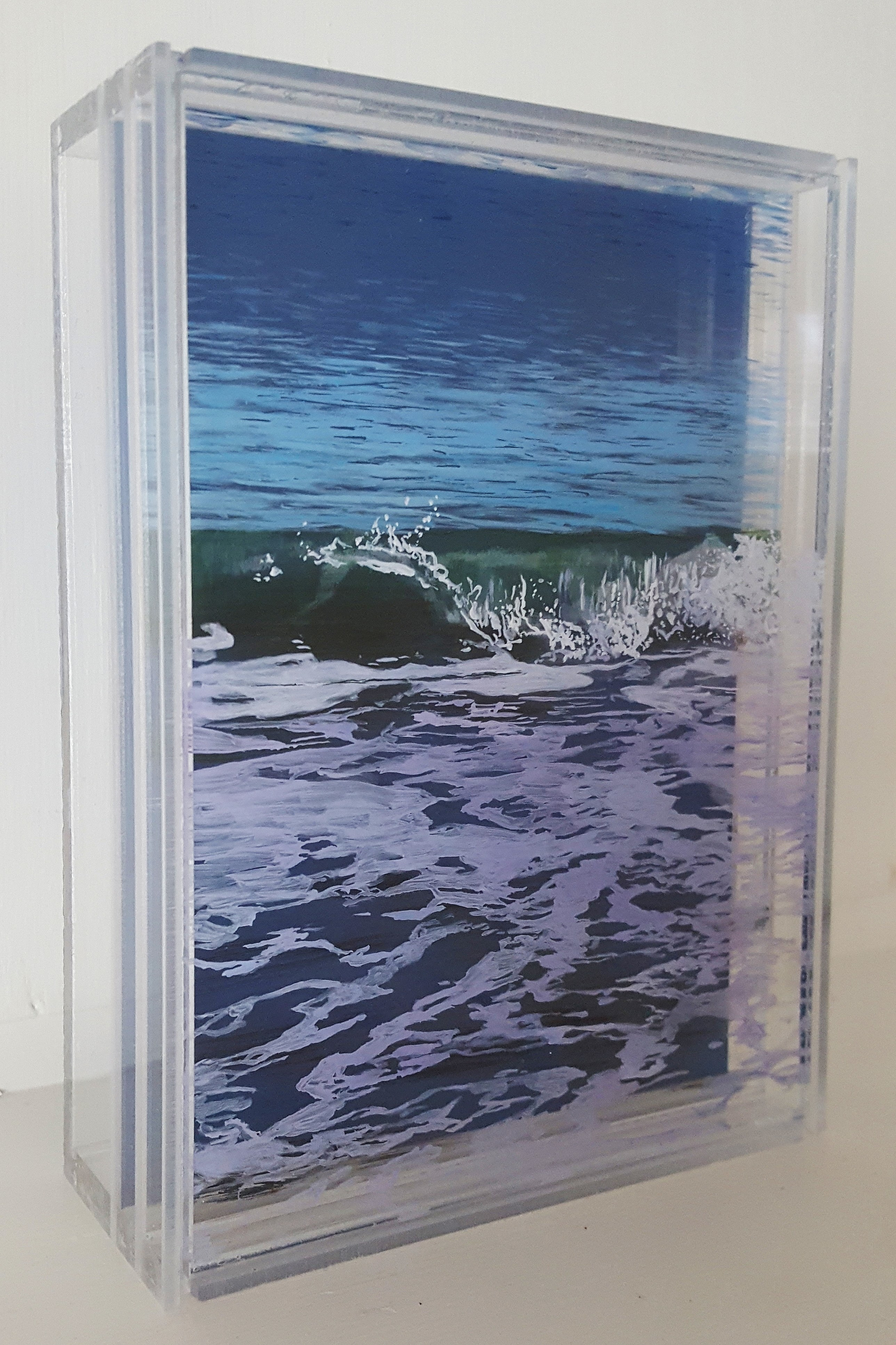 """Ebb & Flow"", 5"" x 7"", acrylic on mulitple layers of acrylic, ©Jess Hurley Scott"