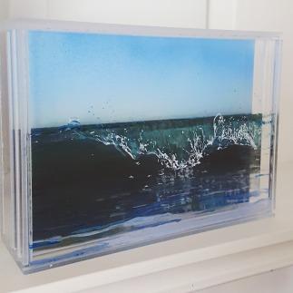"""Glassy"", 5"" x 7"", acrylic on mulitple layers of acrylic, ©Jess Hurley Scott"