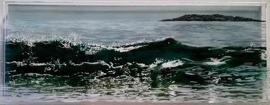 """Sand Beach, #2, 5x13"""""""