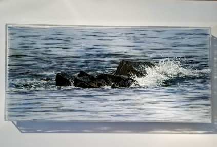 """SOLD """"Breakwater Rocks"""", 14 x30"""""""