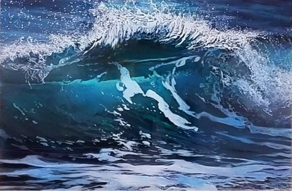 """Rip Curl"", 20x30x2"", acrylic on multiple acrylic panels, ©Jess Hurley Scott"