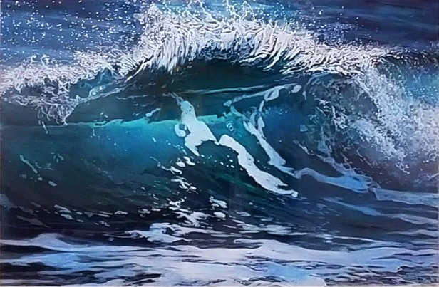 """Rip Curl"", 20x30x2"", acrylic on multiple acrylic panels, ©Jess Hurley Scott"